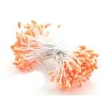 Тычинки оранжевые с блестками (двустор.) 85 ниток